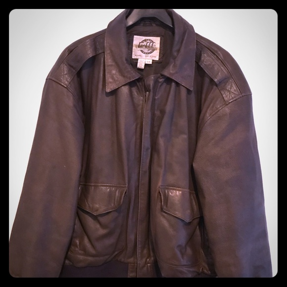 bc9273a2d Vintage-Global Identity G-III Brown Leather Jacket